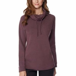 Women's Funnel Neck Long Sleeve Top Pullover